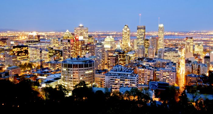 Skyline of Montreal at night